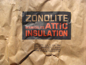 isolant vermiculite amiante