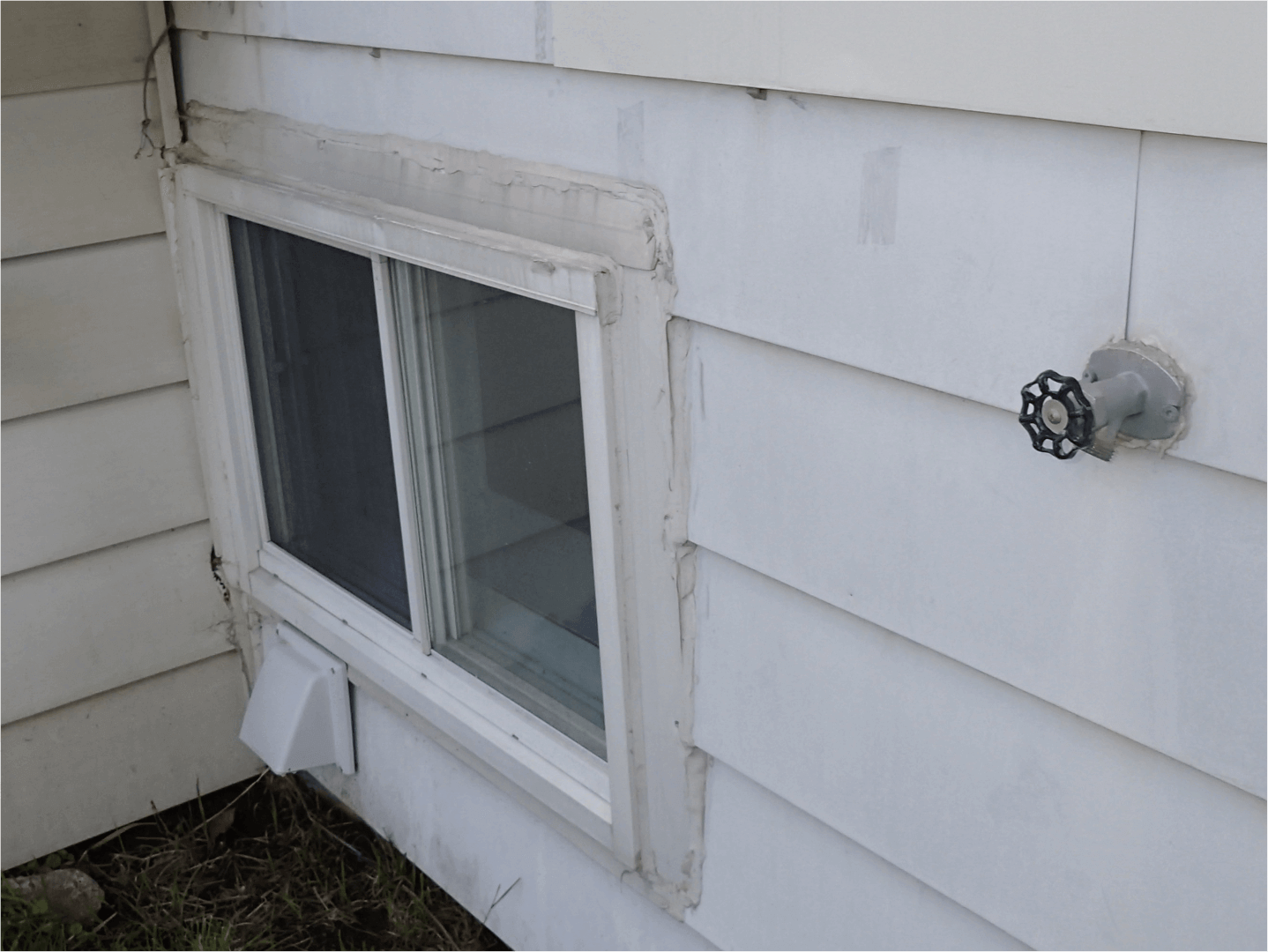 Bad window caulking
