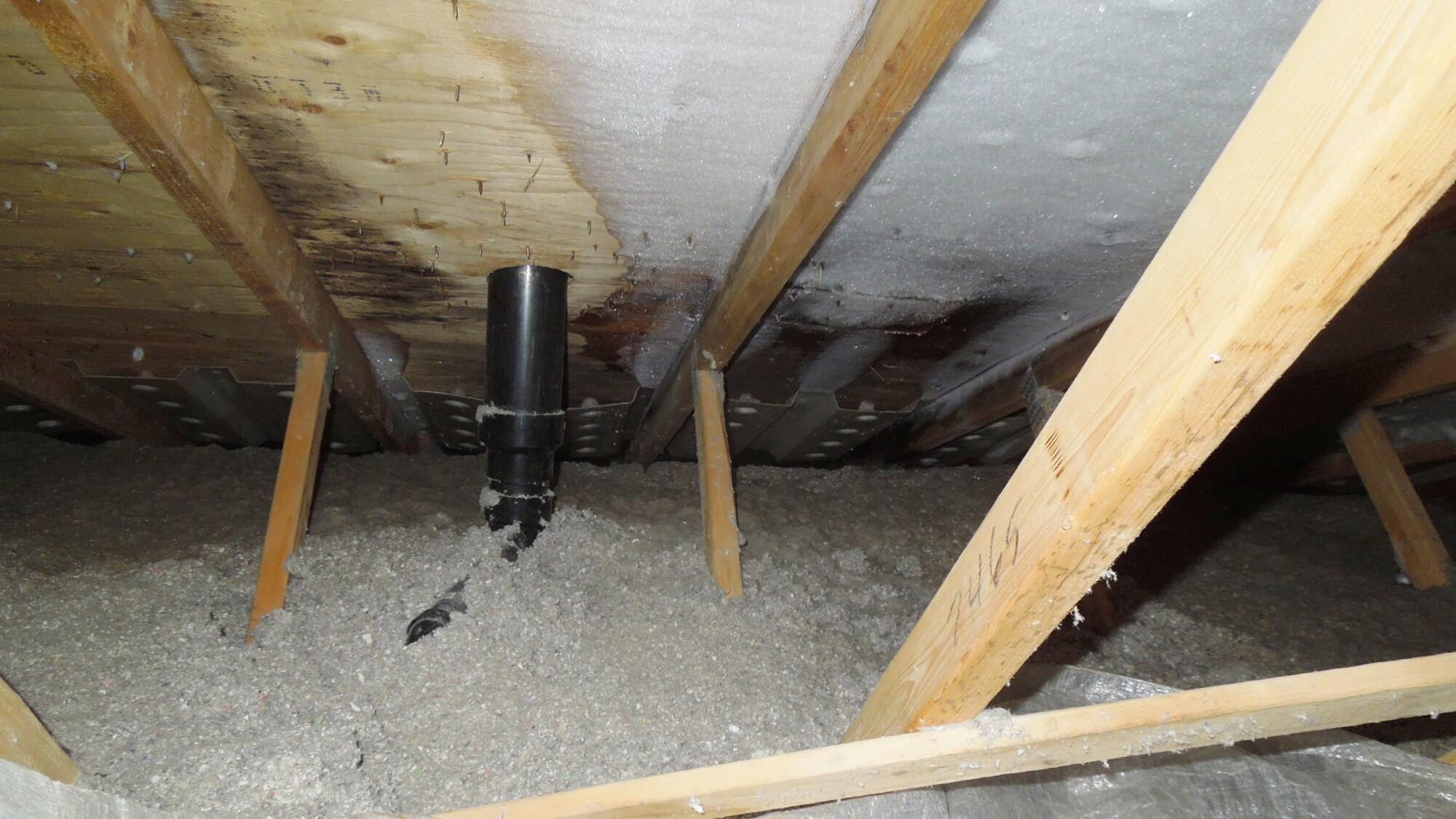 condensation humidite givre grenier toit
